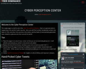 Cyber Perception Center Screenshot