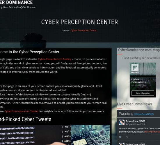 CyberDominance.com Launches Cyber Perception Center